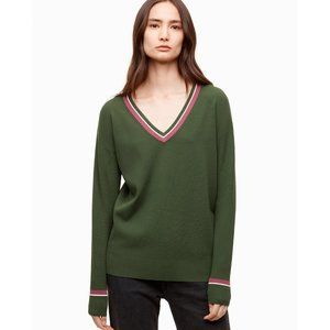 Aritzia Wilfred Free Wolter V-Neck Varsity Sweater